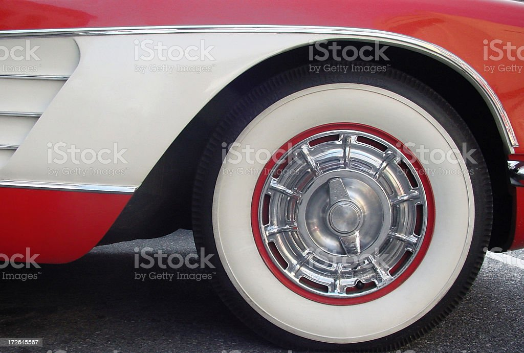 Sportscar classic with whitewall tires stock photo