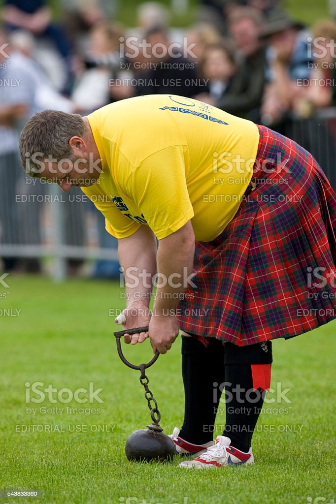 Sportsman at the Highland Games in Dunoon - Scotland stock photo