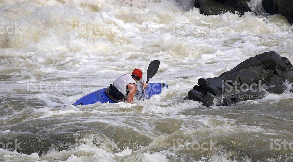 Sportsman on blue boat stock photo