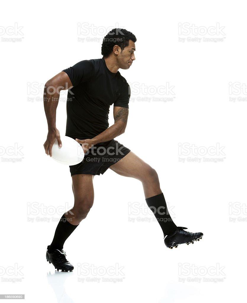 Sportsman playing royalty-free stock photo