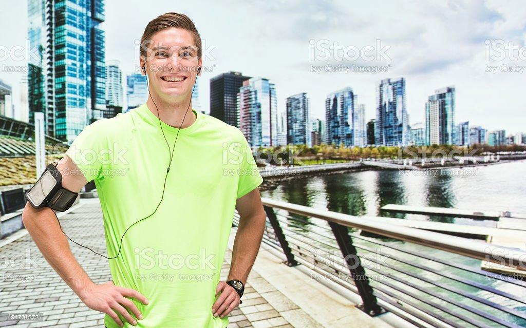 Sportsman posing stock photo