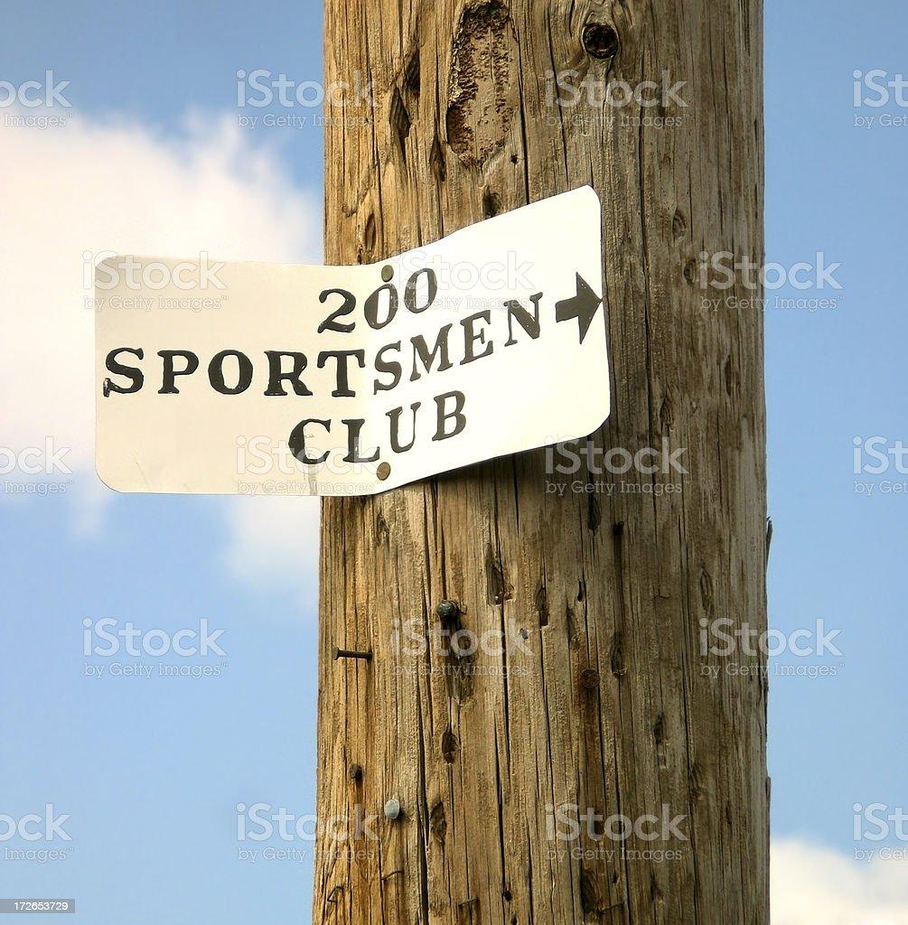 Sportsmen Club royalty-free stock photo