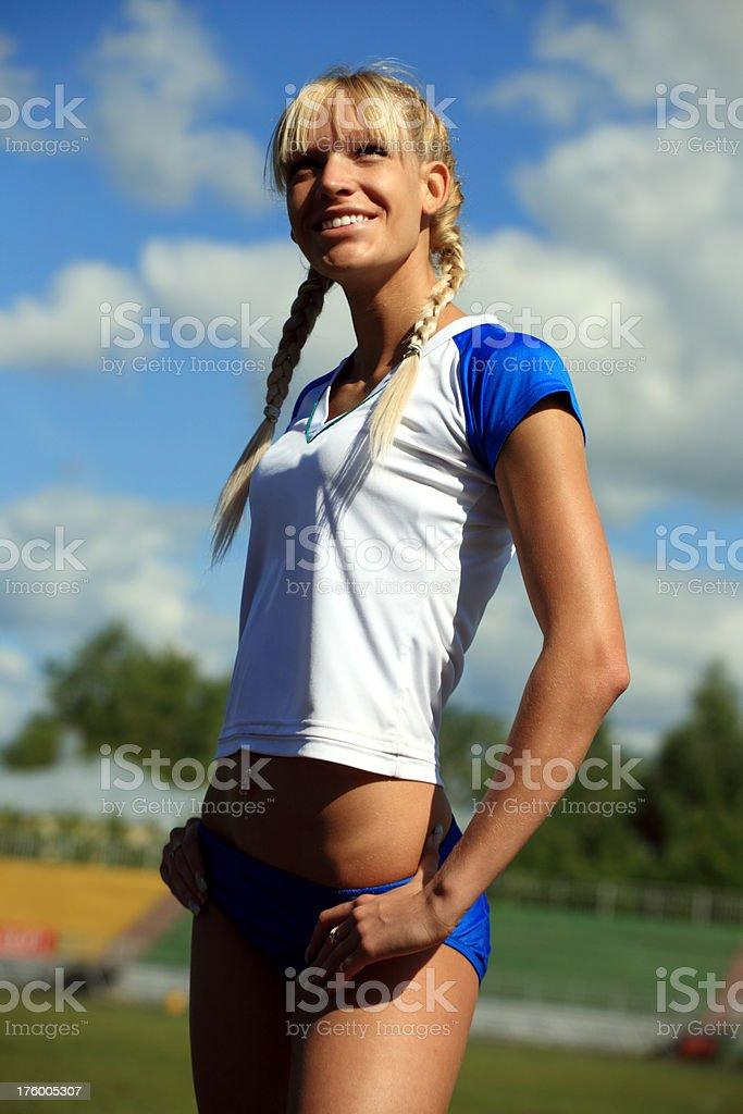 sportswoman stock photo