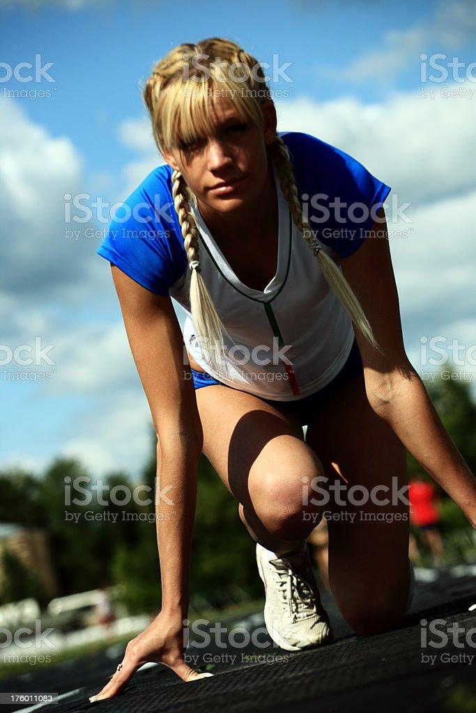 sportswoman royalty-free stock photo