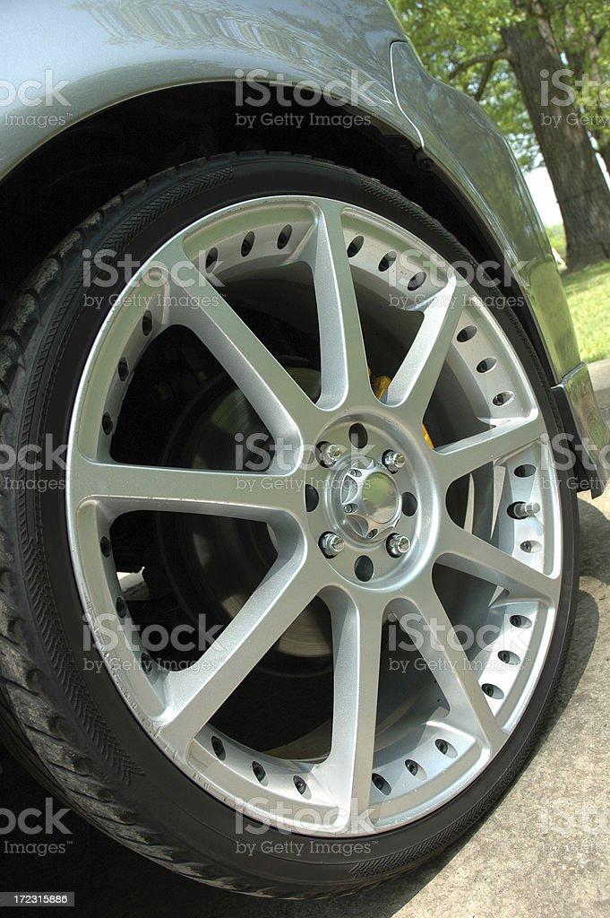 Sporty Alloy Wheel stock photo