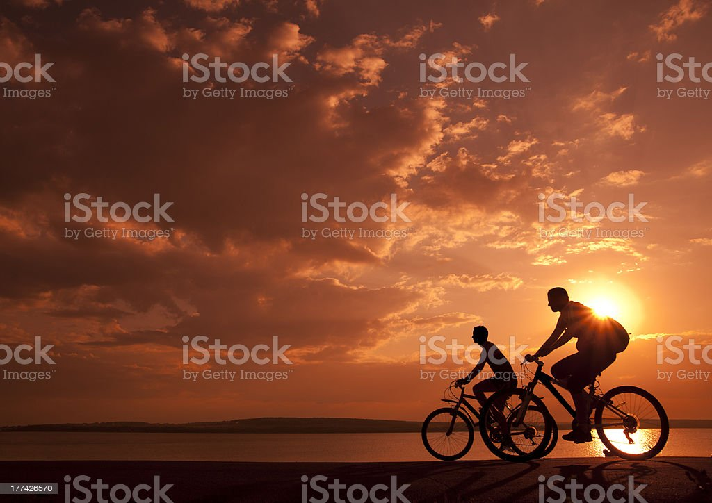 sporty couple stock photo
