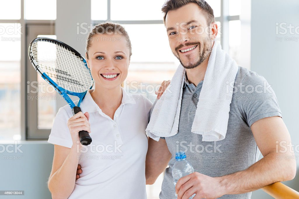 Sporty couple. stock photo