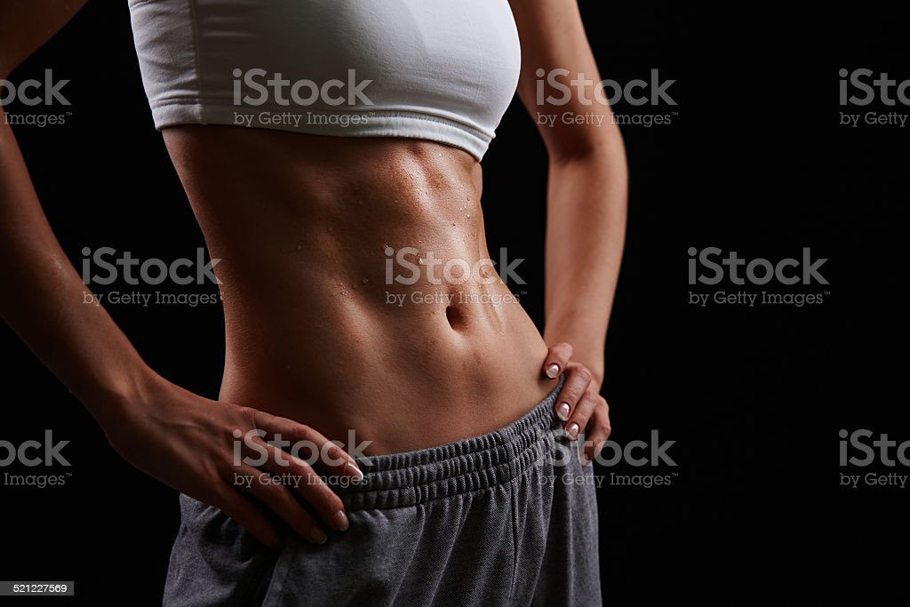 Sporty figure stock photo