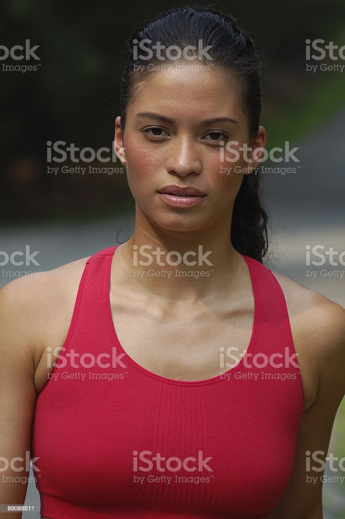 Sporty girl royalty-free stock photo