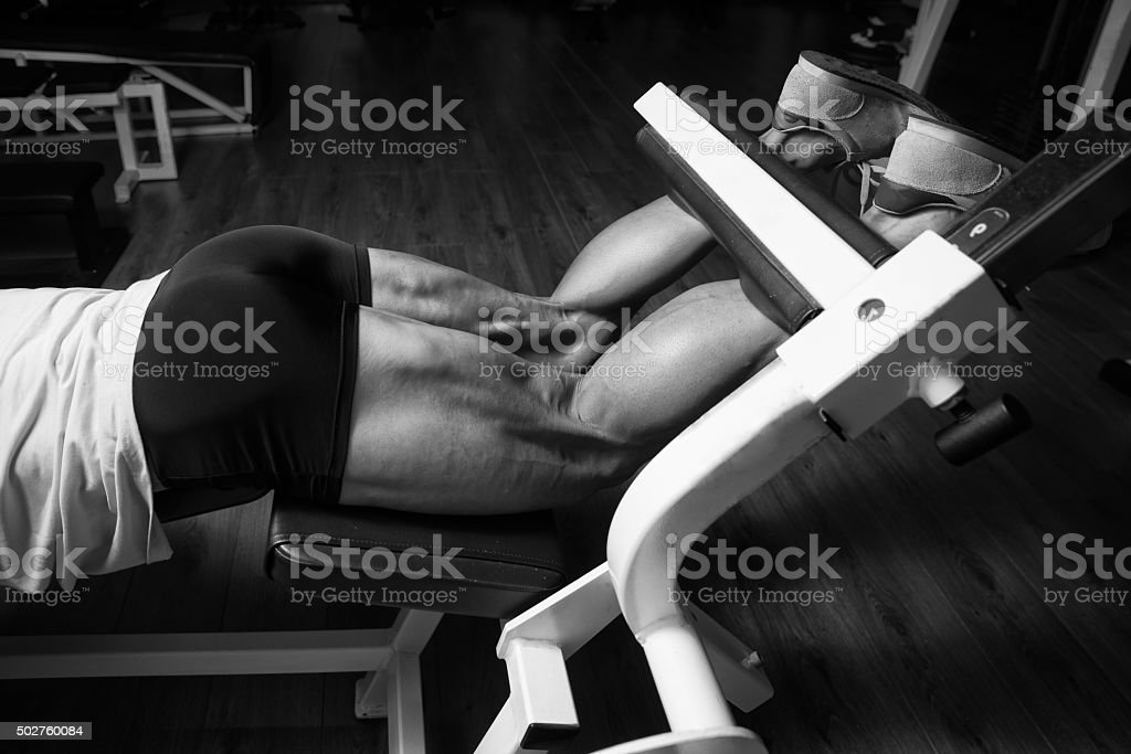 Sporty Legs Hamstrings stock photo