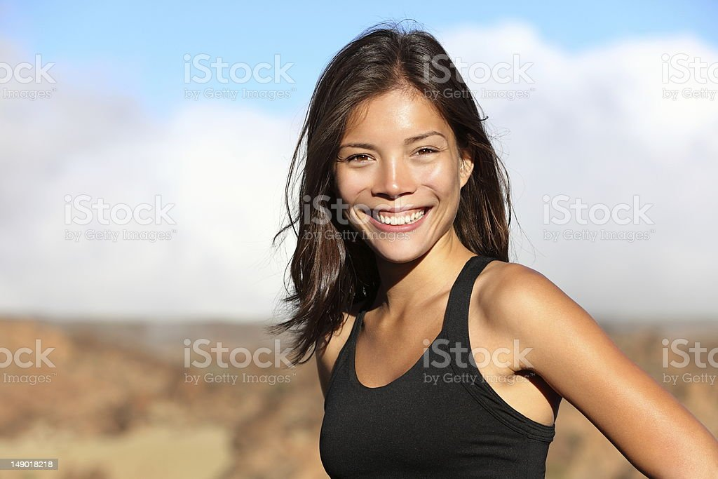 Sporty outdoor workout woman royalty-free stock photo