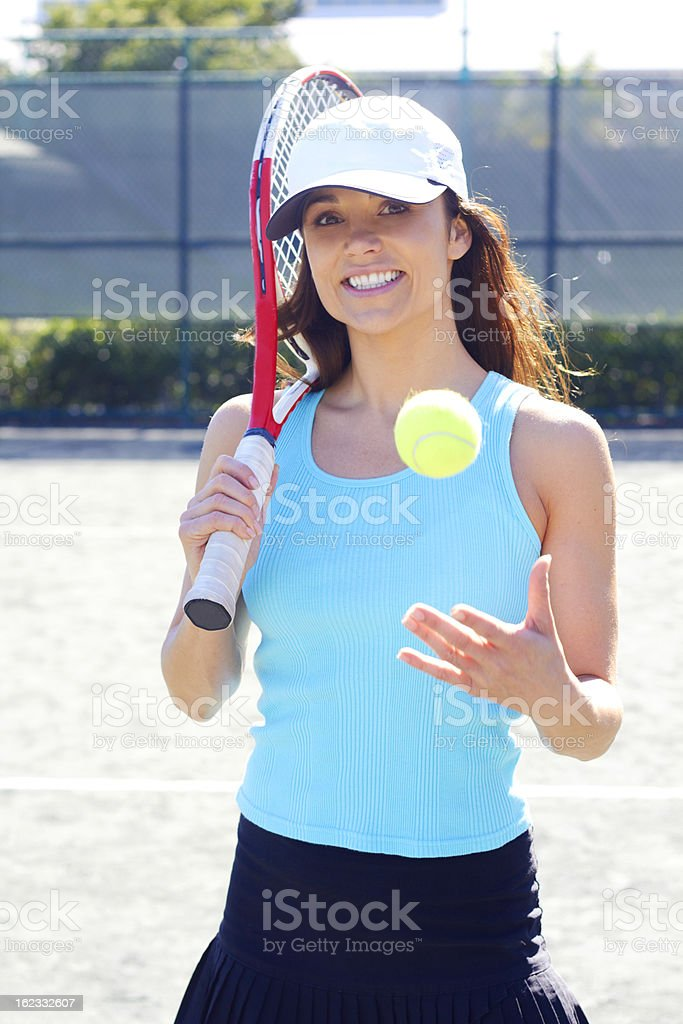 Sporty Woman Ready For a Game royalty-free stock photo