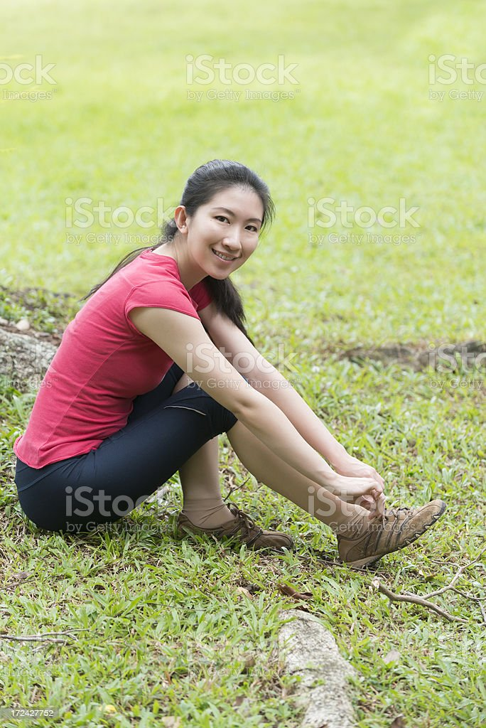 Sporty young Asian Chinese woman royalty-free stock photo