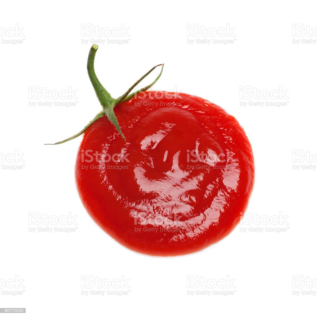 Spot ketchup as tomato. stock photo
