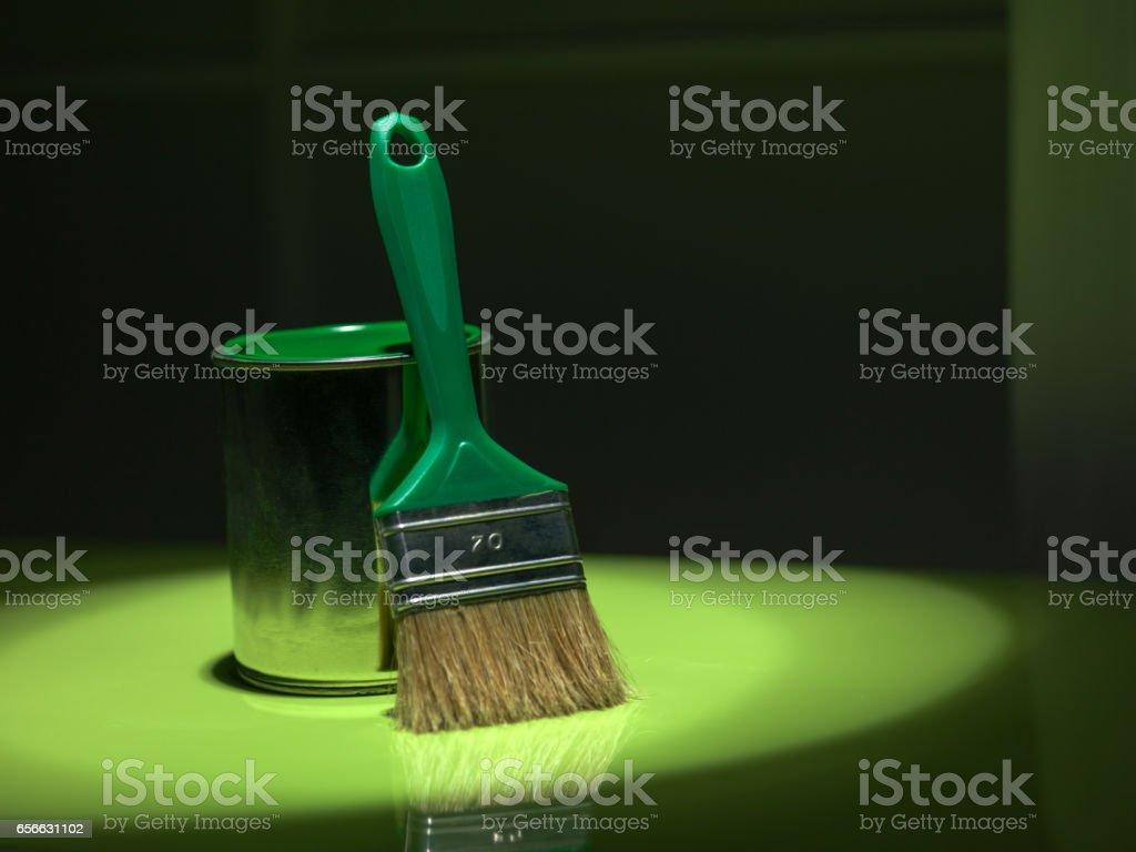spot light green stock photo