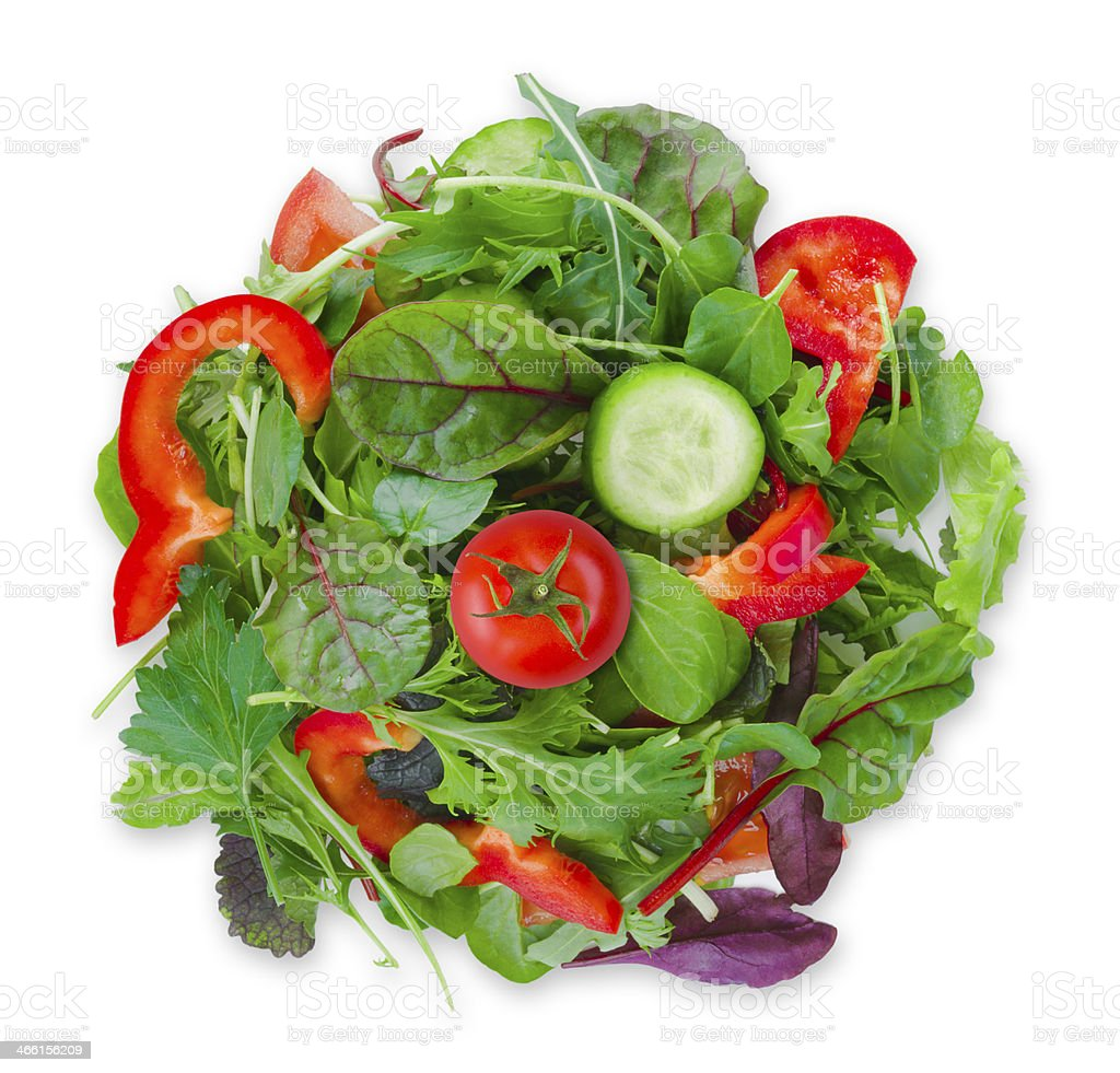 Spot of vegetarian food isolated on a white stock photo