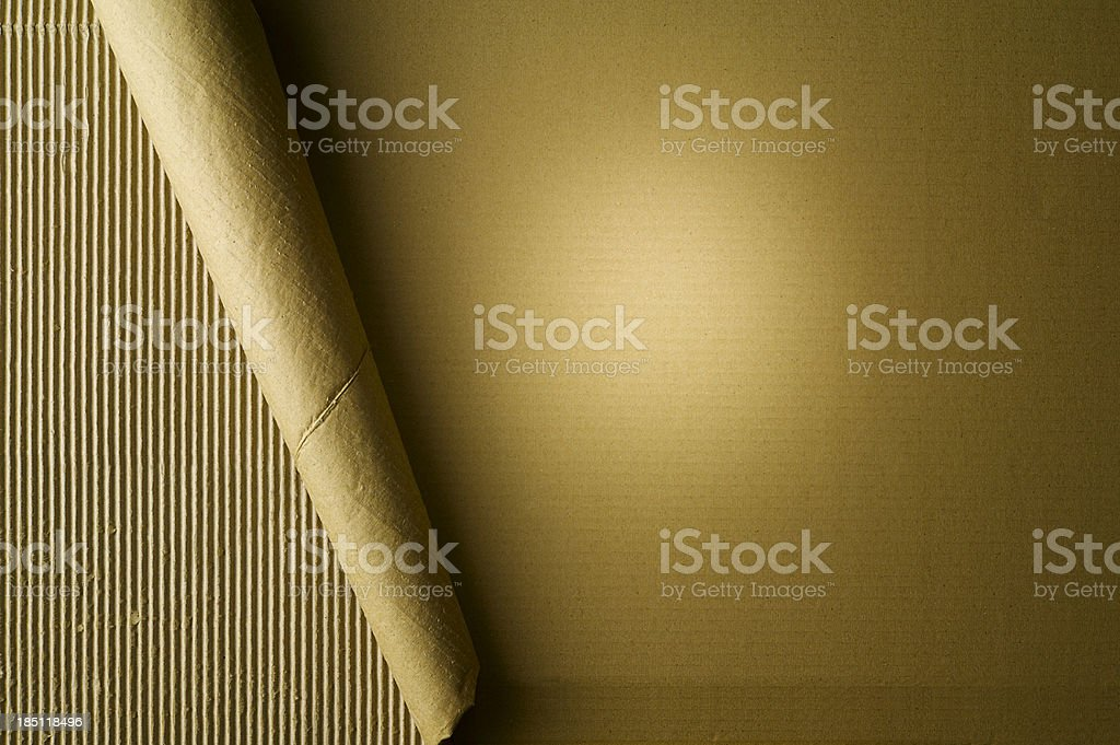 Spot on Cardboard stock photo