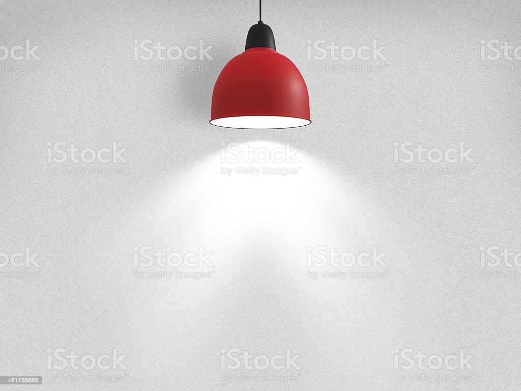 Spotlight Againts Wall stock photo