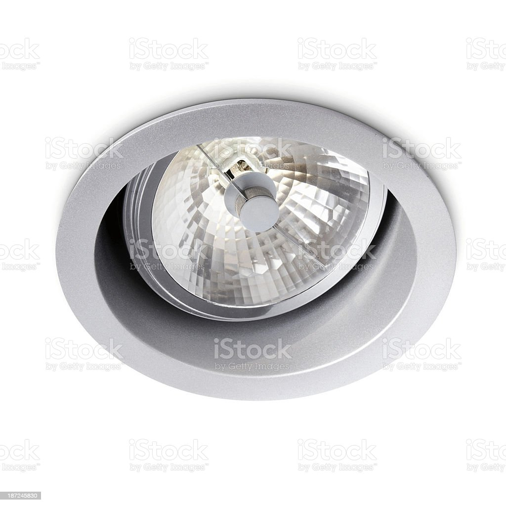 Spotlight In The Ceiling Isolated stock photo