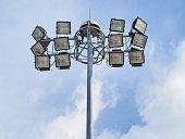 Spotlight lamp post