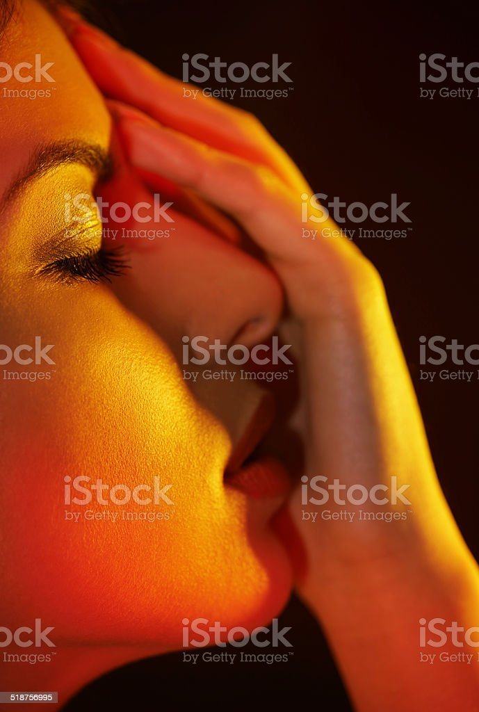 Spotlight on beauty stock photo
