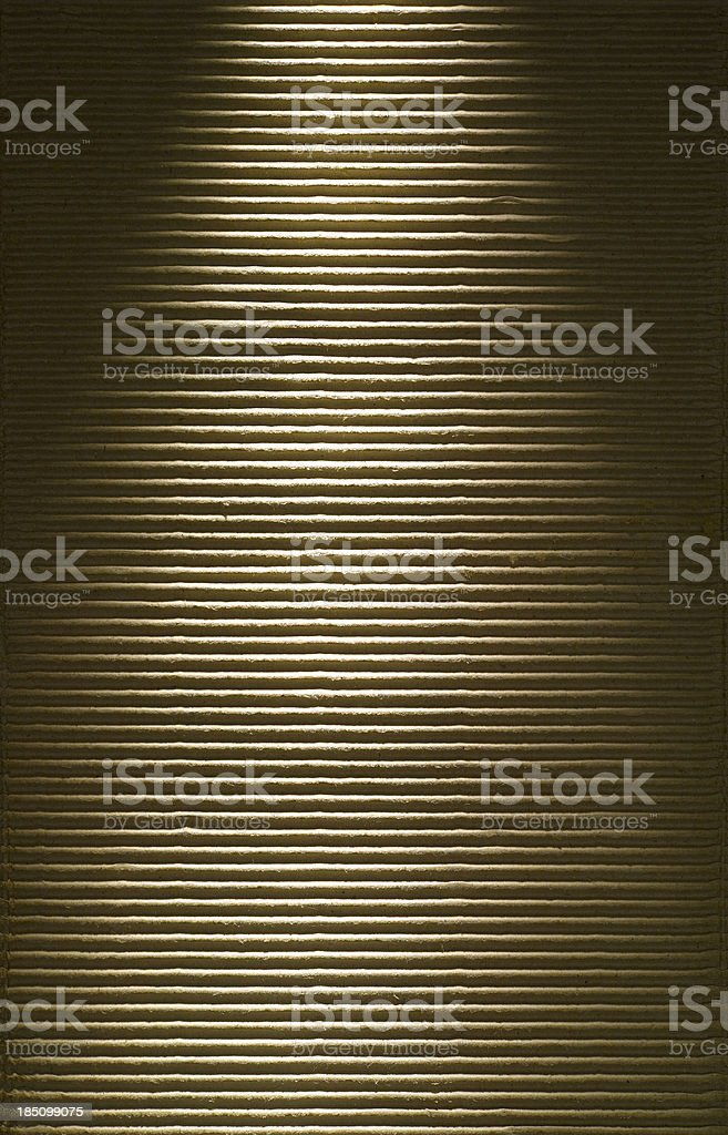 Spotlight on Cardboard stock photo