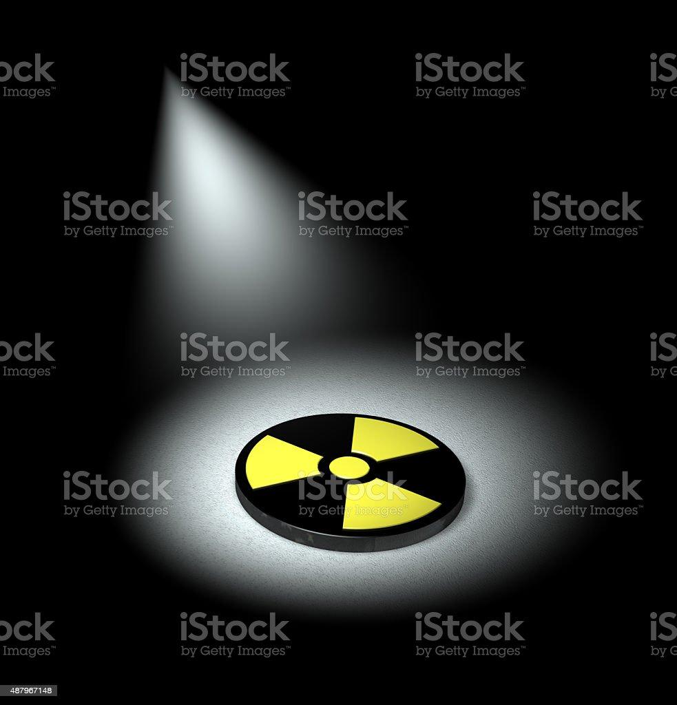 spotlight on nuclear energy stock photo