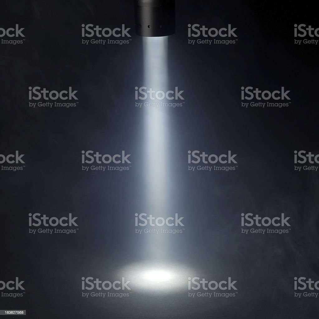 spotlight on stage stock photo