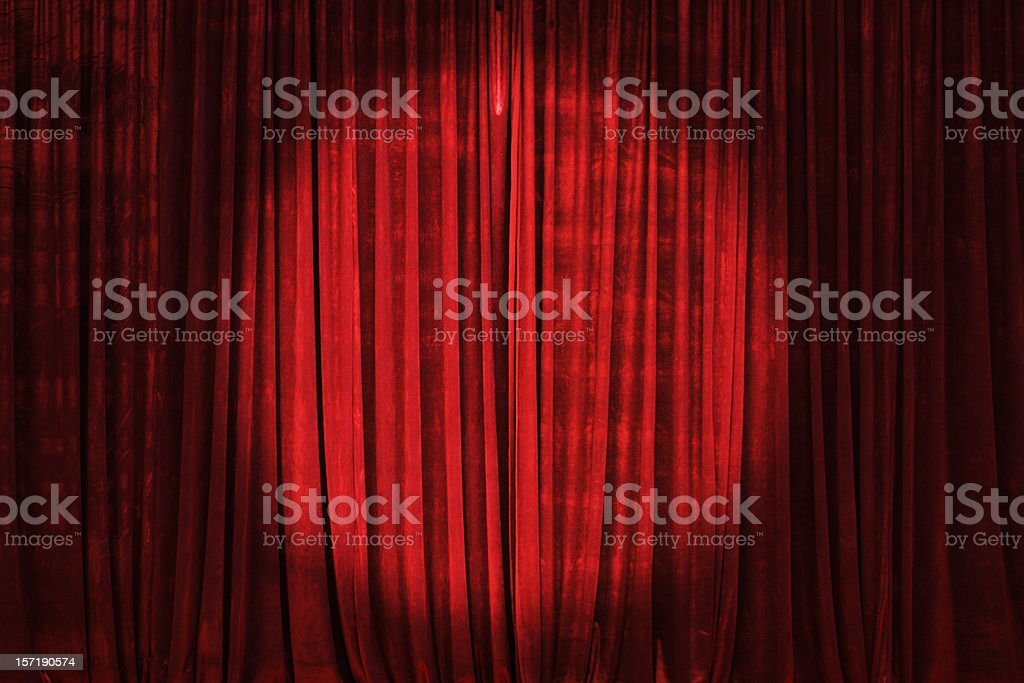 Spotlight on the Stage Curtain royalty-free stock photo