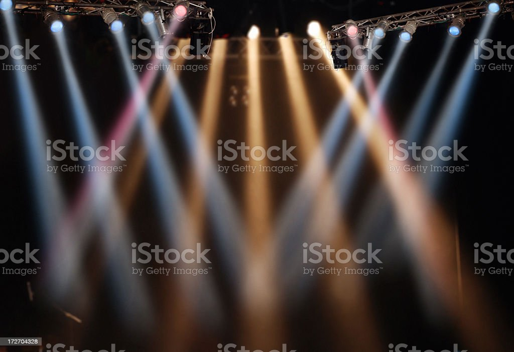 Spotlight show for stage performance stock photo