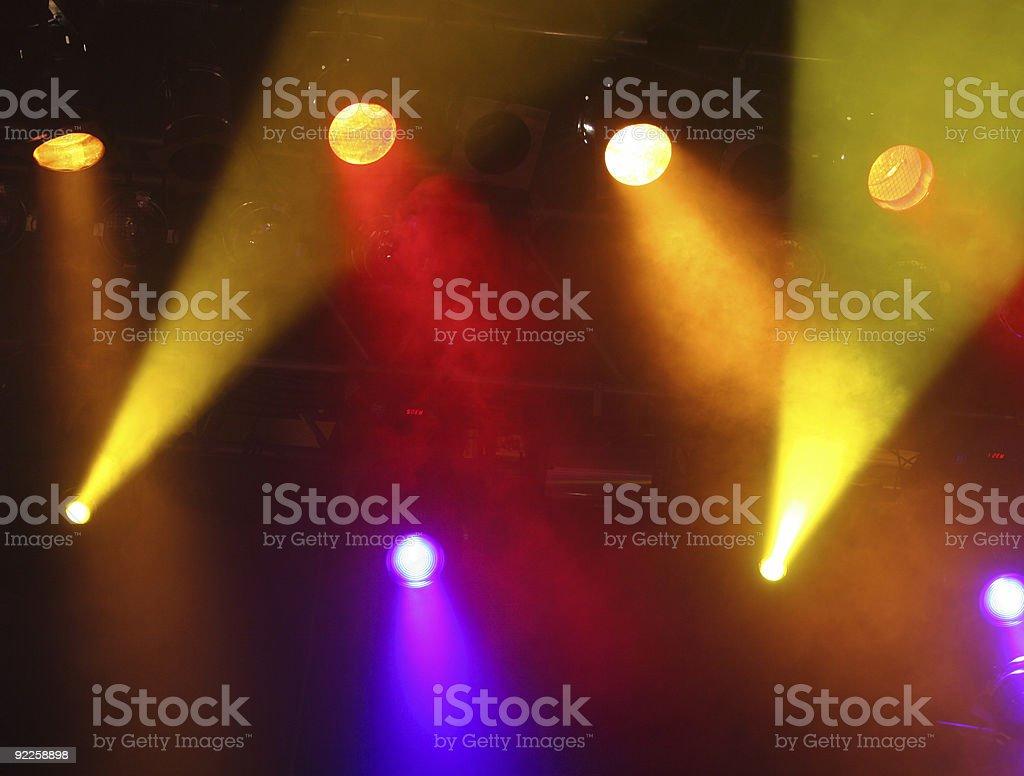 Spotlight show stock photo