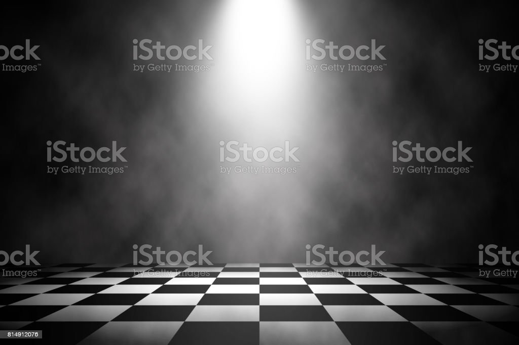 Spotlight white stage on the racing floor background. stock photo