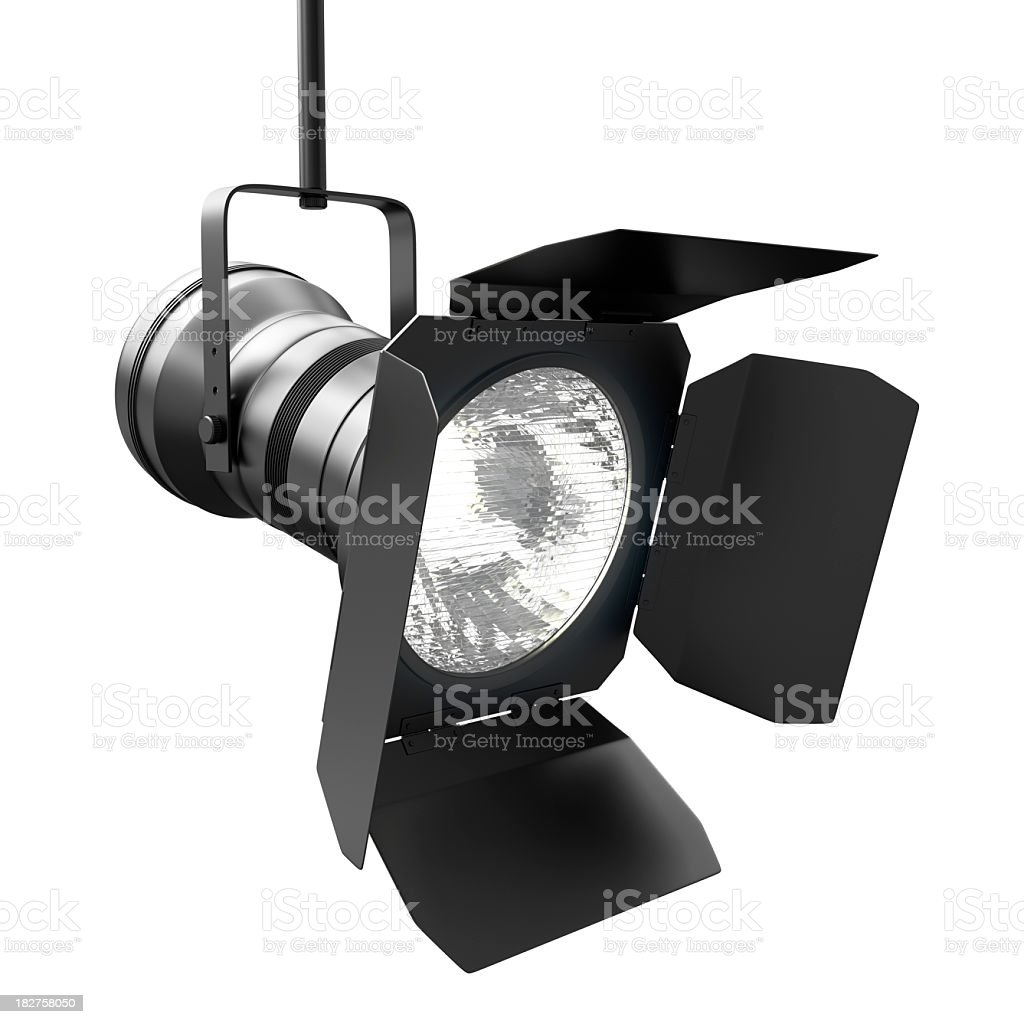Spotlight with Clipping Path stock photo