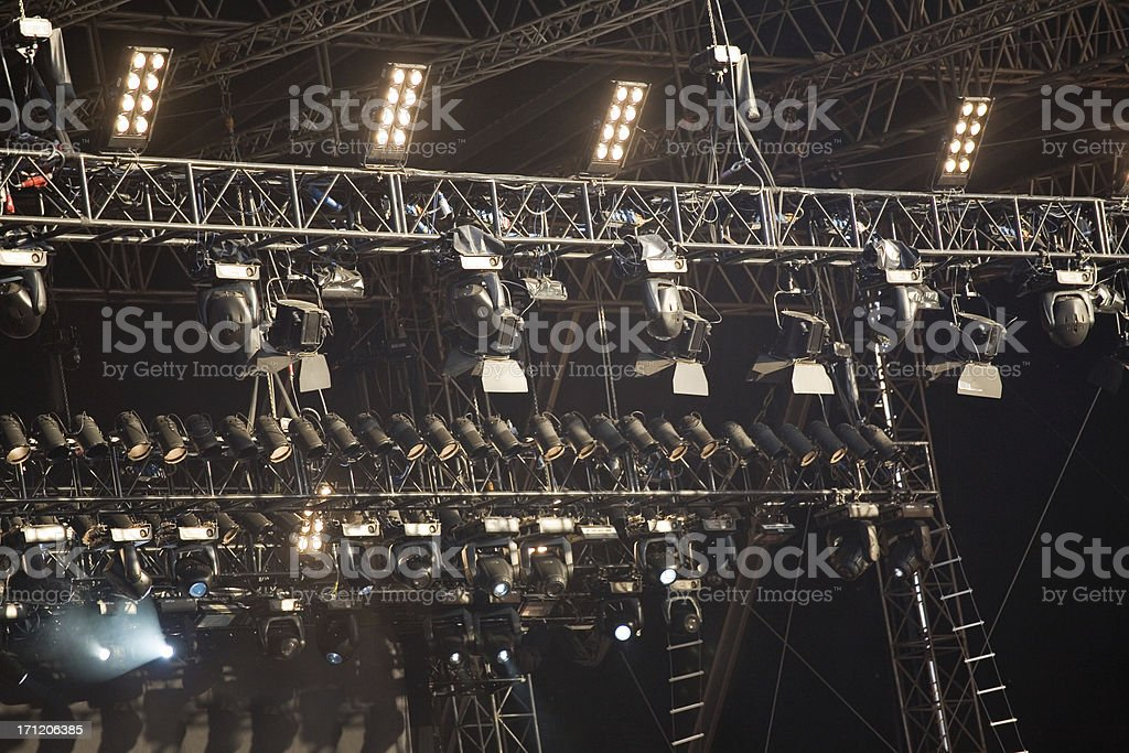 Spotlights above a stage royalty-free stock photo