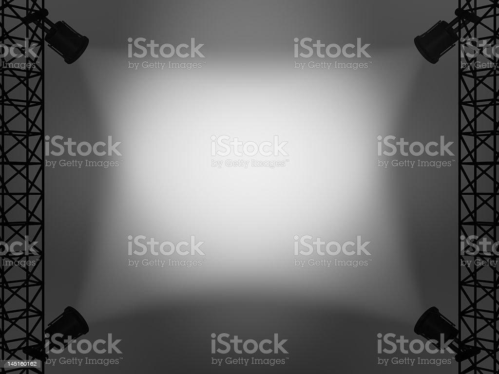 Spotlights royalty-free stock photo