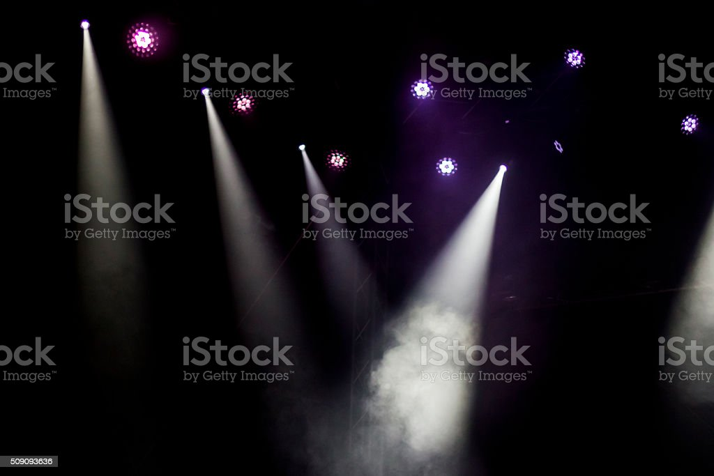 Spotlights stock photo