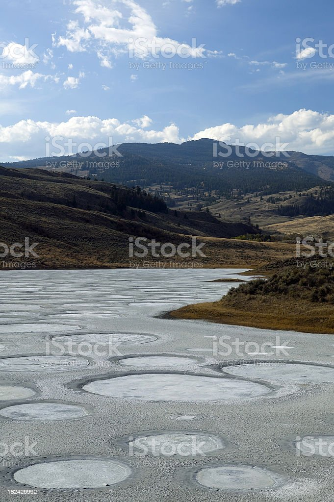 spotted lake osoyoos british columbia canada stock photo