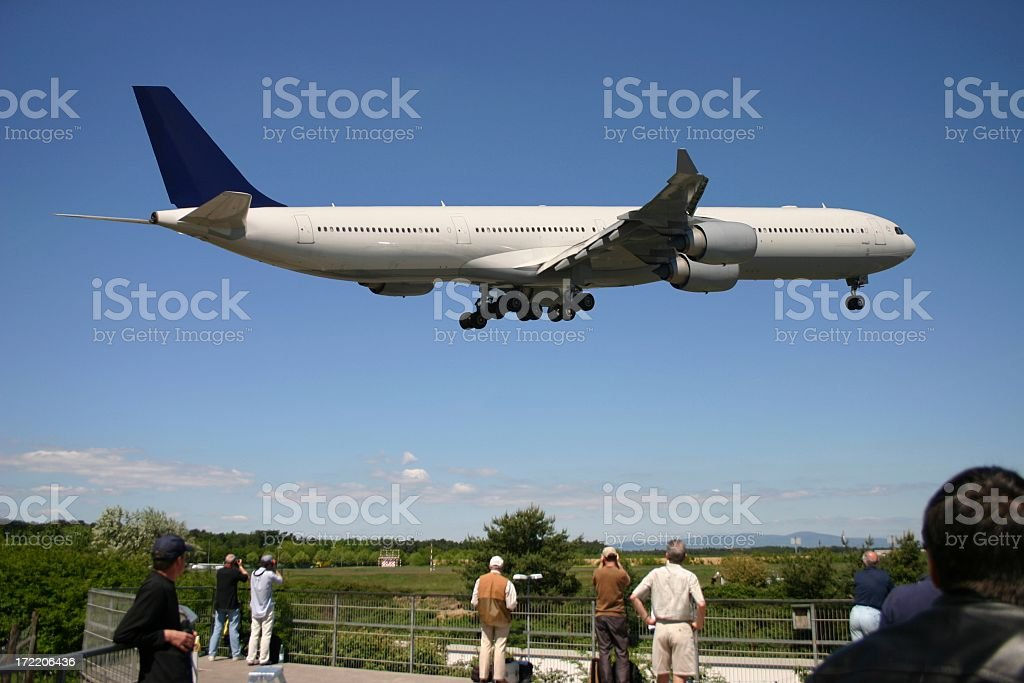 Spotting Airplanes stock photo