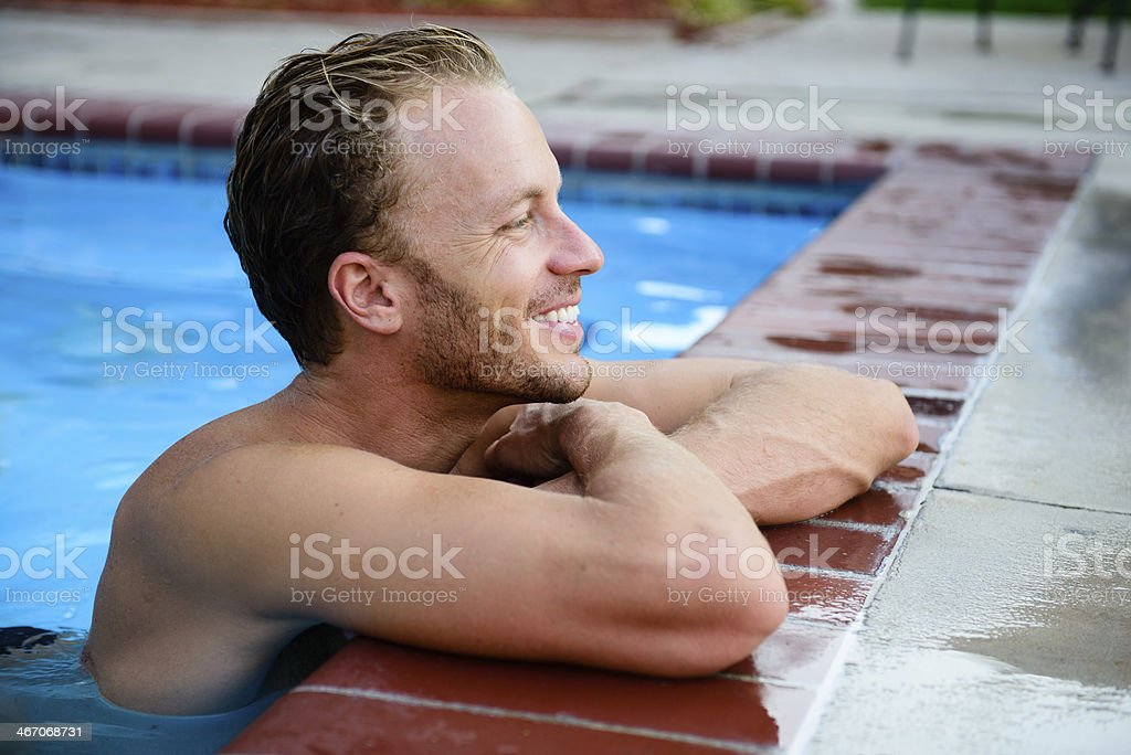 Spotting Something at the Pool royalty-free stock photo