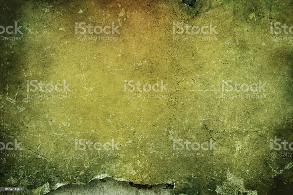 Spotty green and yellow grungy textured background royalty-free stock photo