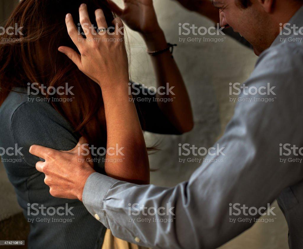 Spousal abuse stock photo