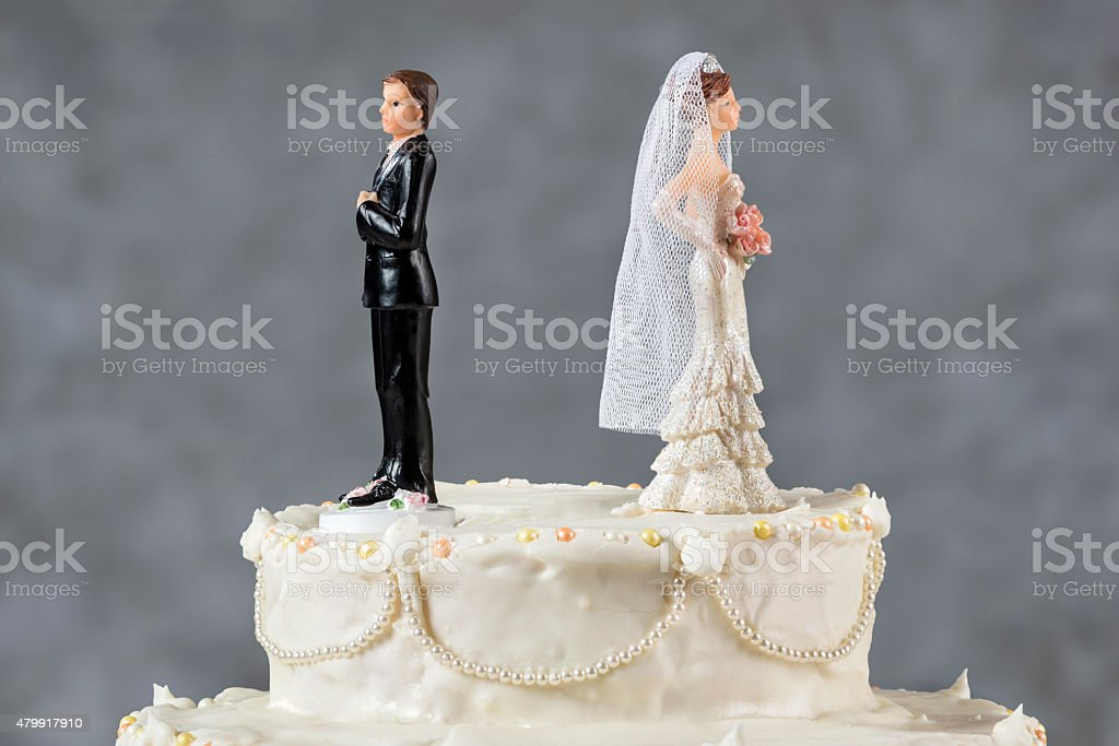 Spouses having their first disagreement stock photo