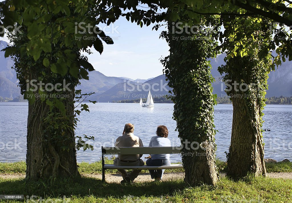Spouses on rest royalty-free stock photo