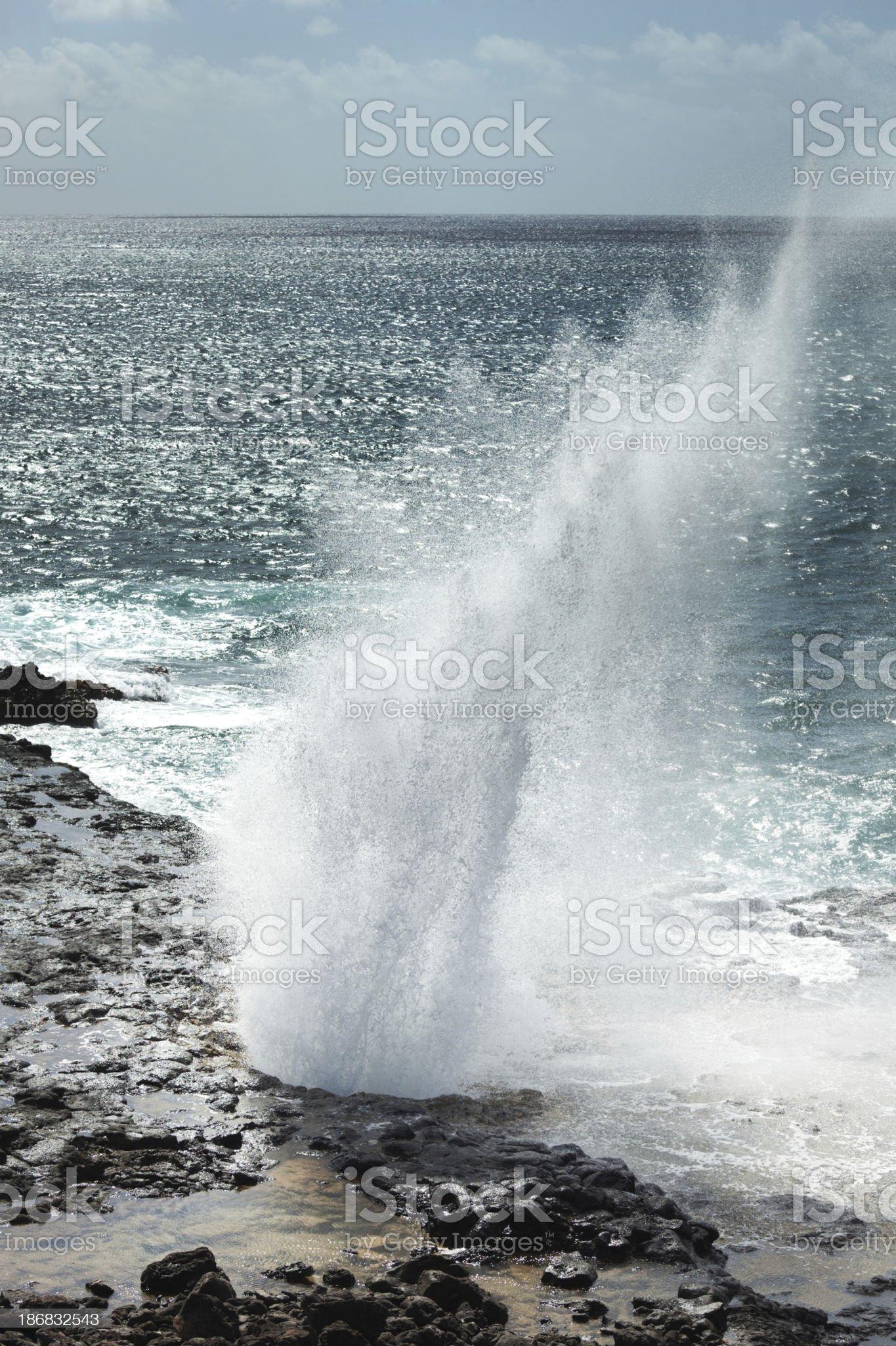 Spouting Horn of Kauai, Hawaii Vt royalty-free stock photo