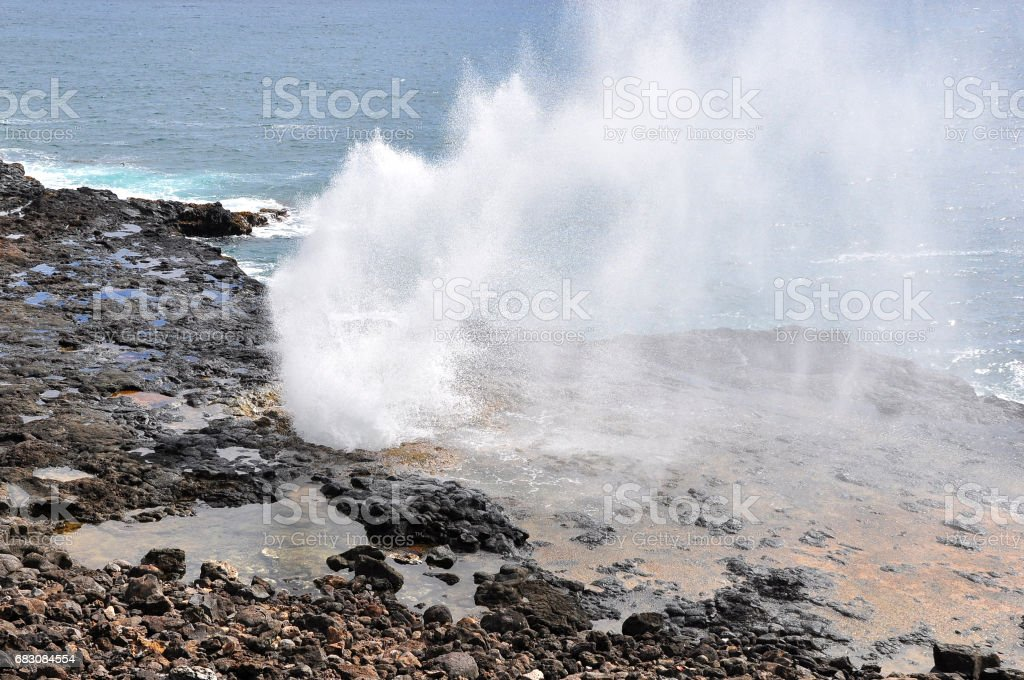 Spouting horn stock photo
