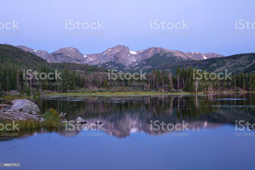 Sprague Lake at Rocky Mountain National Park stock photo