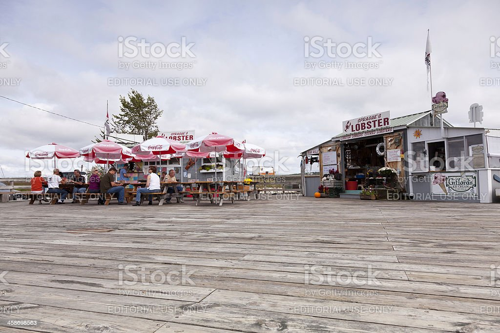 Sprague's Lobster Take-Out Restaurant, Maine stock photo