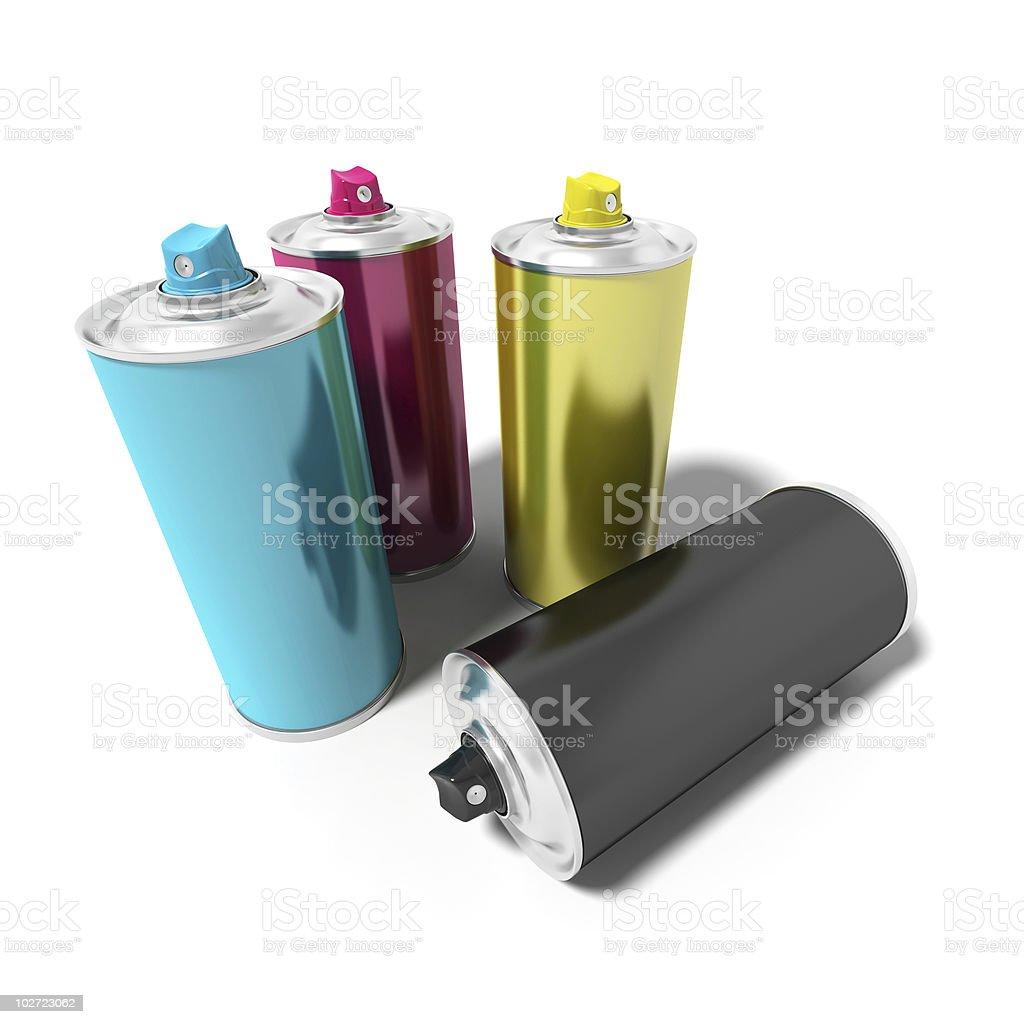 Spray can royalty-free stock photo
