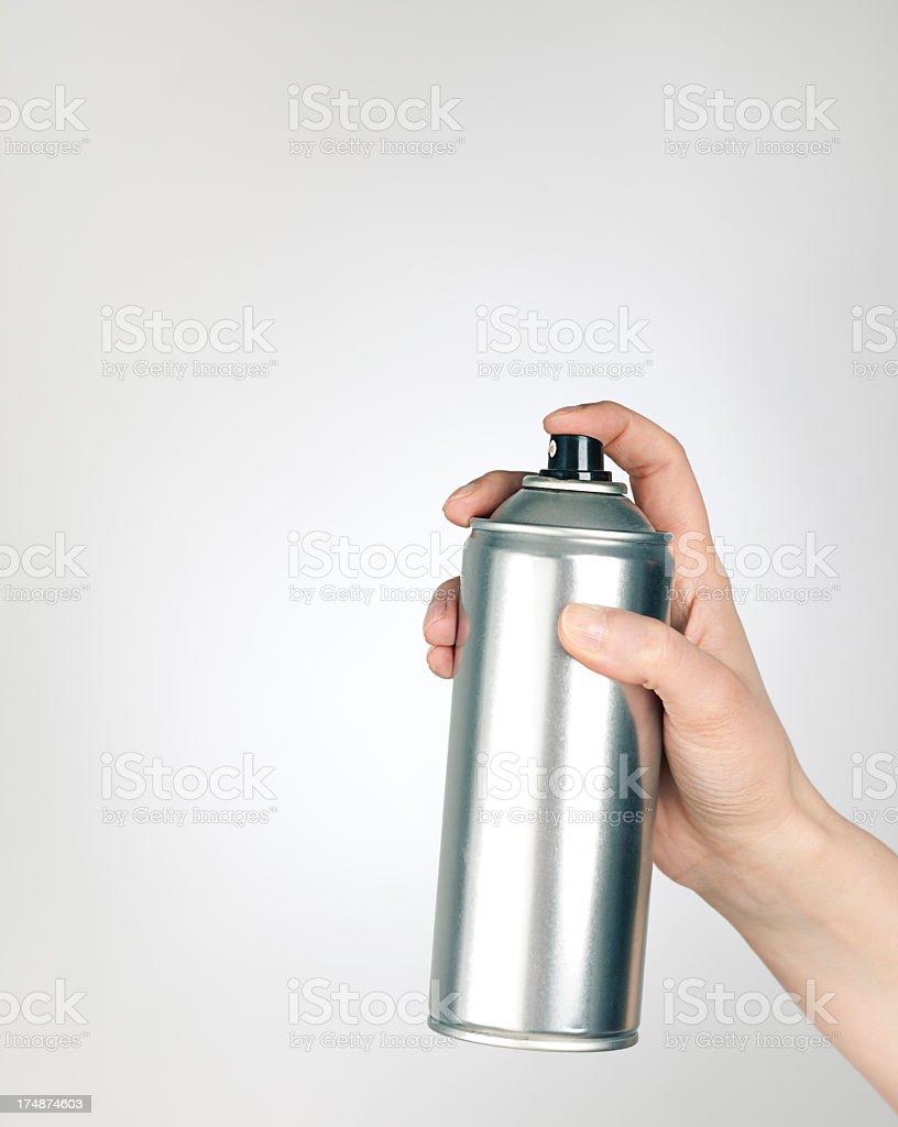 Spray can stock photo