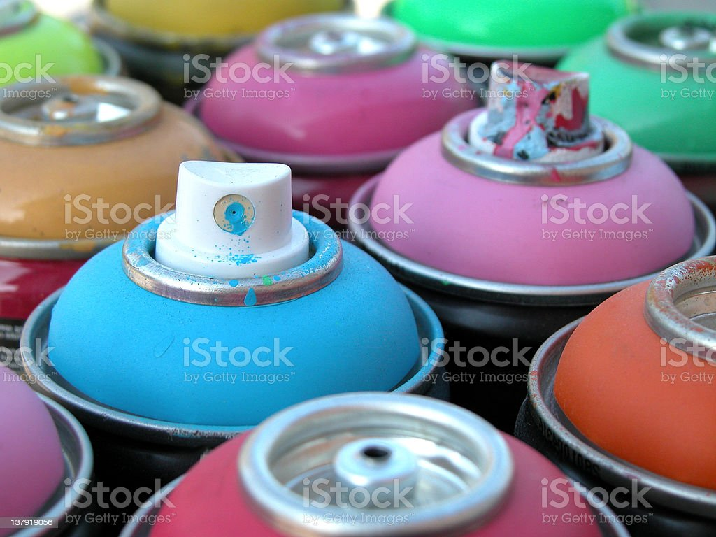 spray cans royalty-free stock photo